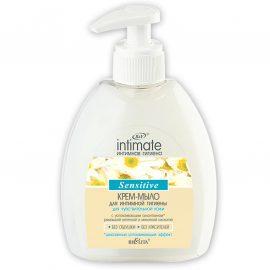صابون کرمی intimate برای بهداشت نواحی تناسلی (پوست حساس)