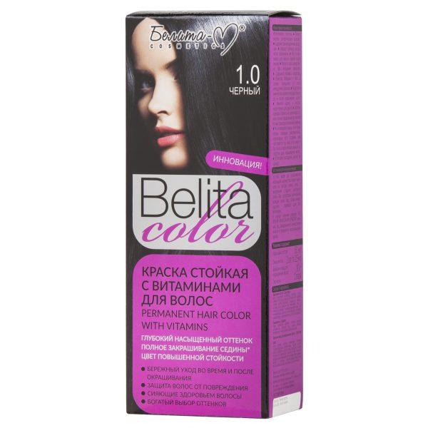 کیت رنگ مو بلیتا کالر حاوی ویتامین شماره 1.0 رنگ مشکی