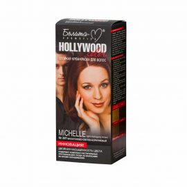 کیت رنگ مو هالیوود کالر مدل Michelle رنگ ماهون قهوه ای روشن