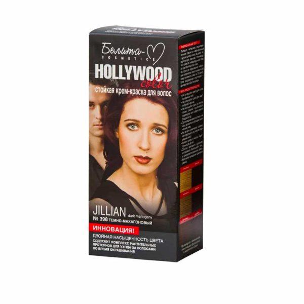 کیت رنگ مو هالیوود کالر مدل JILLIAN رنگ ماهونی تیره
