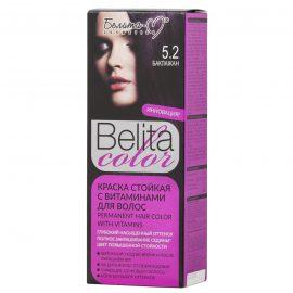کیت رنگ مو بلیتا کالر حاوی ویتامین شماره 5.2 رنگ بادمجانی