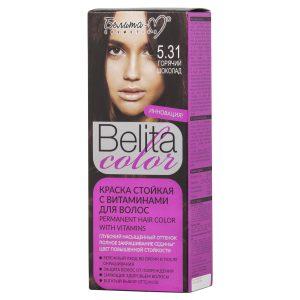 کیت رنگ مو بلیتا کالر حاوی ویتامین شماره 5.31 رنگ شکلاتی