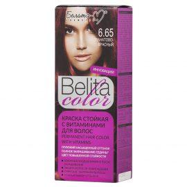 کیت رنگ مو بلیتا کالر حاوی ویتامین شماره 6.65 قرمز یاقوتی