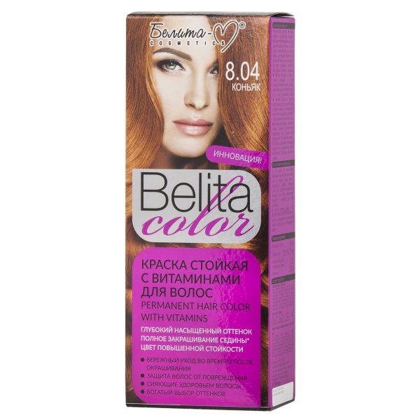 کیت رنگ مو بلیتا کالر حاوی ویتامین شماره 8.04 رنگ کنیاک