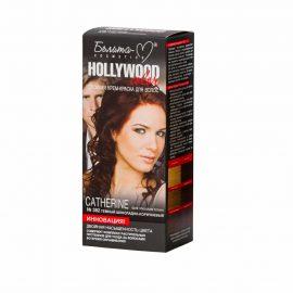 کیت رنگ مو هالیوود کالر مدل CATHERINE رنگ قهوه ای شکلاتی تیره