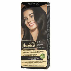 کیت رنگ مو هپی نس شماره 4.1 رنگ قهوه ای سرد