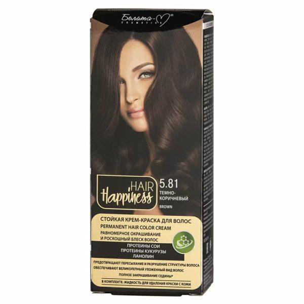 کیت رنگ مو هپی نس شماره 5.81 رنگ قهوه ای تیره