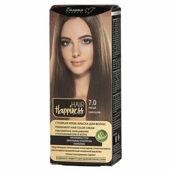 کیت رنگ مو هپی نس شماره 7.0 رنگ قهوه ای روشن