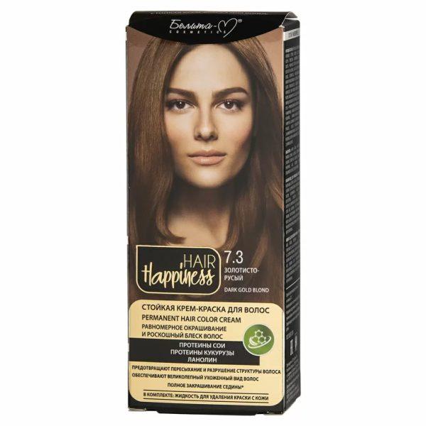 کیت رنگ مو هپی نس شماره 7.3 رنگ بلوند طلایی