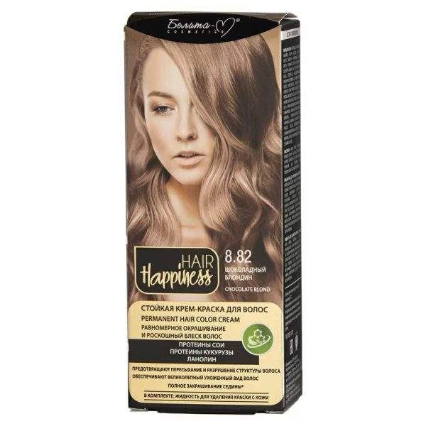 کیت رنگ مو هپی نس شماره 8.82 رنگ بلوند شکلاتی