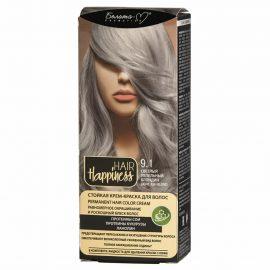 کیت رنگ مو هپی نس شماره 9.1 رنگ بلوند خاکستری روشن