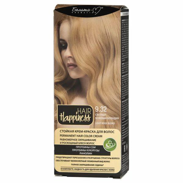 کیت رنگ مو هپی نس شماره 9.32 رنگ بلوند بژ روشن